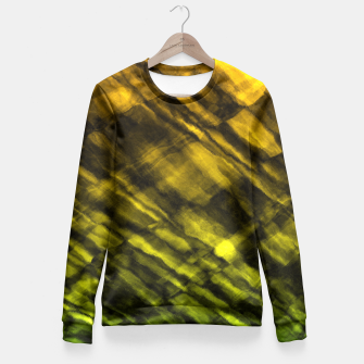 Thumbnail image of Rock Pool in Green and Gold Fitted Waist Sweater, Live Heroes