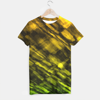 Rock Pool in Green and Gold T-shirt thumbnail image