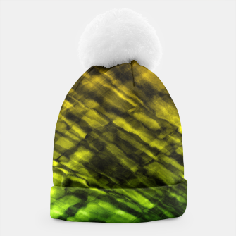 Rock Pool in Green and Gold Beanie thumbnail image