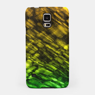 Rock Pool in Green and Gold Samsung Case thumbnail image