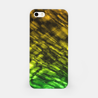 Rock Pool in Green and Gold iPhone Case thumbnail image