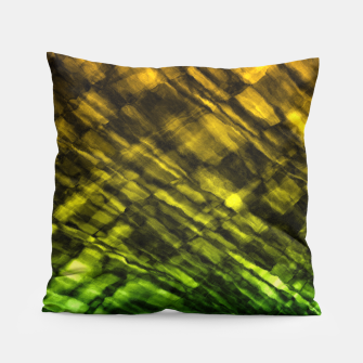 Rock Pool in Green and Gold Pillow thumbnail image