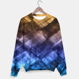Thumbnail image of Rock Pool in Blue and Gold Sweater, Live Heroes
