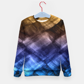 Thumbnail image of Rock Pool in Blue and Gold Kid's Sweater, Live Heroes