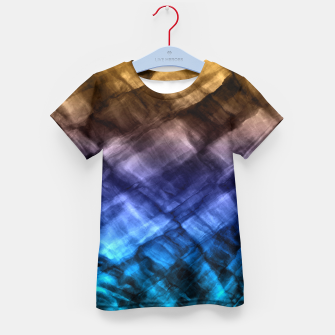 Thumbnail image of Rock Pool in Blue and Gold Kid's T-shirt, Live Heroes