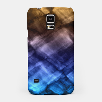 Rock Pool in Blue and Gold Samsung Case thumbnail image