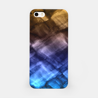 Rock Pool in Blue and Gold iPhone Case thumbnail image