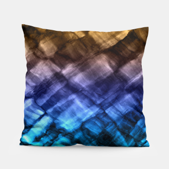 Thumbnail image of Rock Pool in Blue and Gold Pillow, Live Heroes