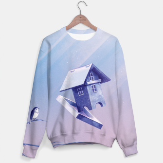 Thumbnail image of Freezing Bird...house Sweatshirt, Live Heroes