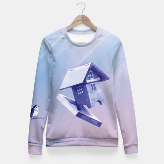 Freezing Bird...house Taillierte Sweatshirt thumbnail image