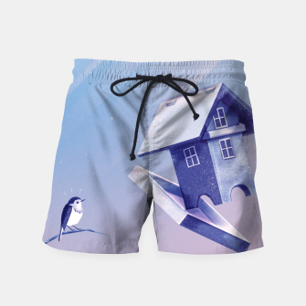 Freezing Bird...house Badeshorts thumbnail image