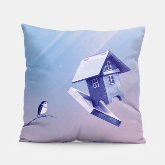 Freezing Bird...house Kissen thumbnail image