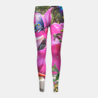 Thumbnail image of Amaryllis Party Girl's Leggings, Live Heroes
