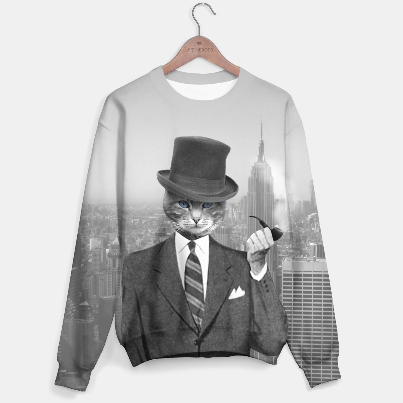Image of NEW YORK Business Cat [Black&White] - Live Heroes