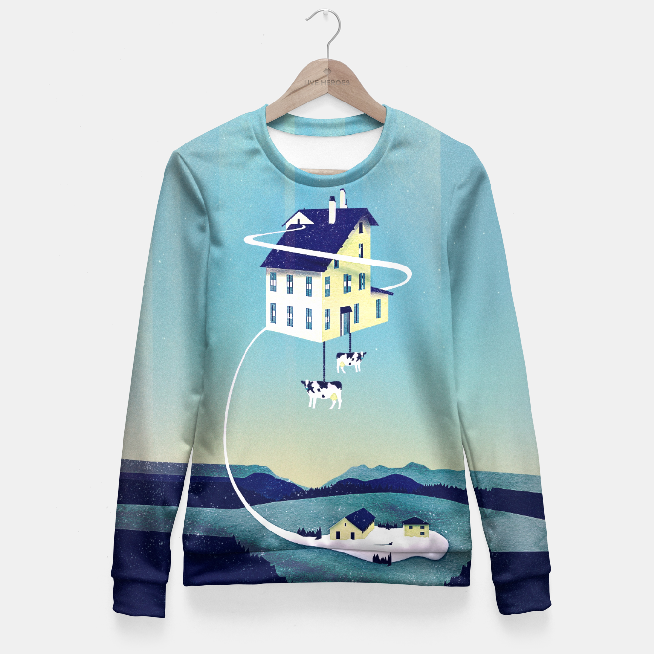 Image of Holy Cow Taillierte Sweatshirt - Live Heroes
