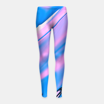 Thumbnail image of Pink Matter Girl's Leggings, Live Heroes