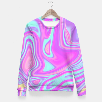 Thumbnail image of Pastel Water Fitted Waist Sweater, Live Heroes