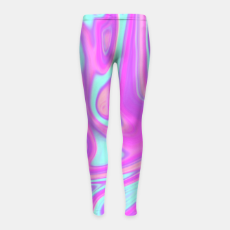 Thumbnail image of Pastel Water Girl's Leggings, Live Heroes
