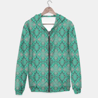Thumbnail image of Sliced pomegranate, mint & gray bohemian pattern Hoodie, Live Heroes