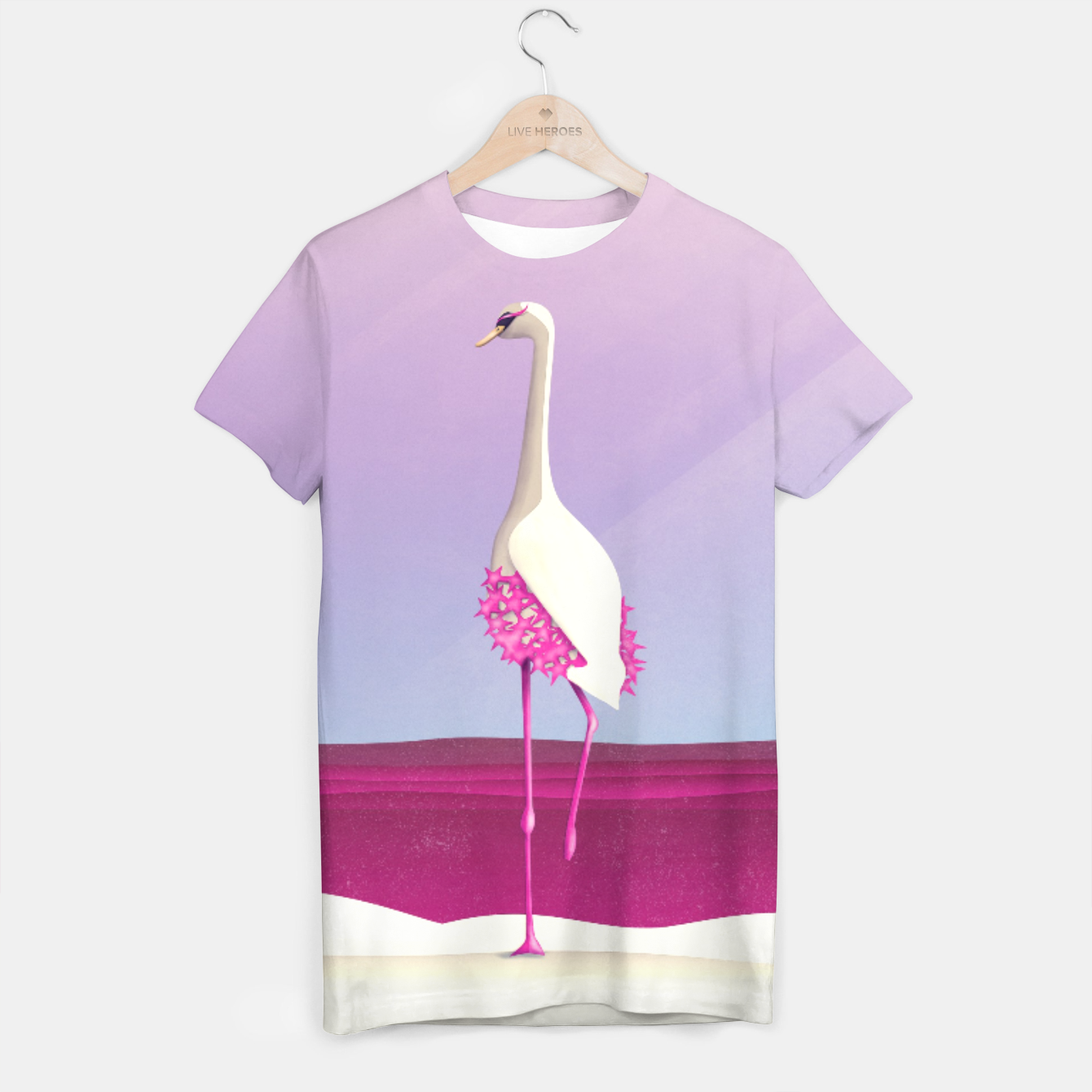 Image of Flamingo Fatale T-Shirt - Live Heroes