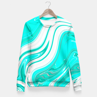 Thumbnail image of LightGreenishBlue Fitted Waist Sweater, Live Heroes