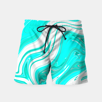 Thumbnail image of LightGreenishBlue Swim Shorts, Live Heroes