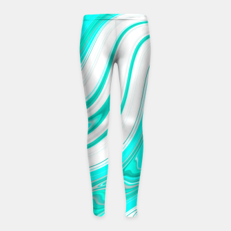 Thumbnail image of LightGreenishBlue Girl's Leggings, Live Heroes