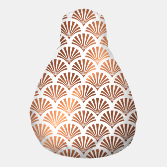 Thumbnail image of Art Deco Shells Pattern Pouf, Live Heroes