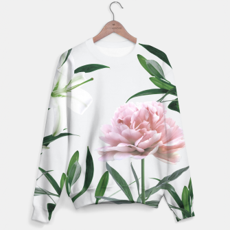 Pink Peony White Lily Sweater thumbnail image