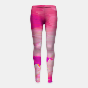 Thumbnail image of Blurry Sky Girl's Leggings, Live Heroes