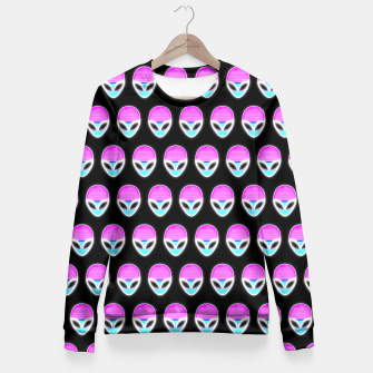 Thumbnail image of a-l-i-e-n-s  Fitted Waist Sweater, Live Heroes