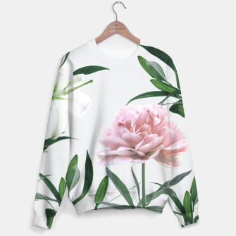 Thumbnail image of Pink Peony White Lily Sweater, Live Heroes
