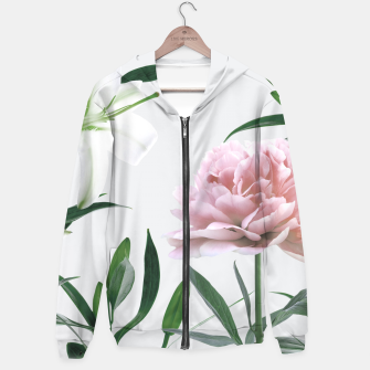 Thumbnail image of Pink Peony White Lily Hoodie, Live Heroes