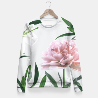 Thumbnail image of Pink Peony White Lily Fitted Waist Sweater, Live Heroes