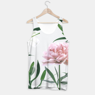 Pink Peony White Lily Tank Top thumbnail image
