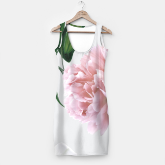 Pink Peony White Lily Simple Dress thumbnail image