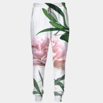 Thumbnail image of Pink Peony White Lily Sweatpants, Live Heroes