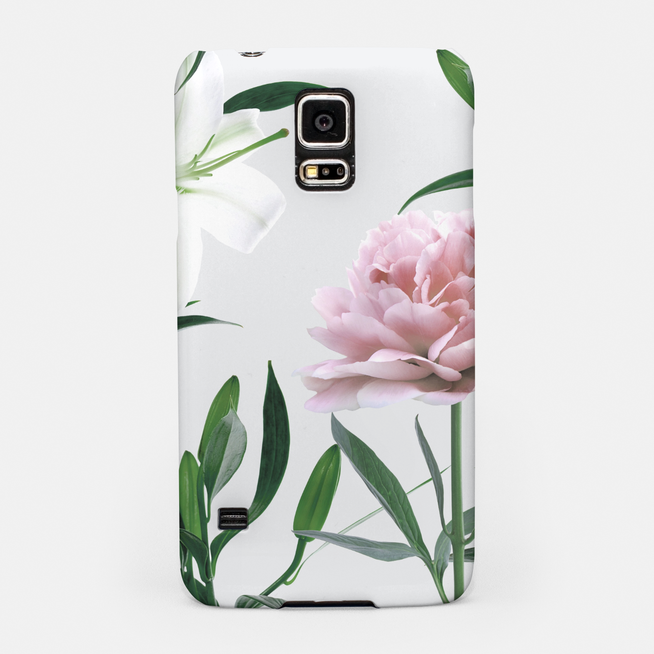 Image of Pink Peony White Lily Samsung Case - Live Heroes