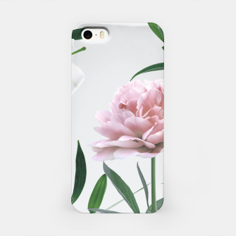 Thumbnail image of Pink Peony White Lily iPhone Case, Live Heroes