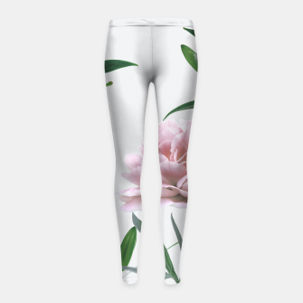 Thumbnail image of Pink Peony White Lily Girl's Leggings, Live Heroes