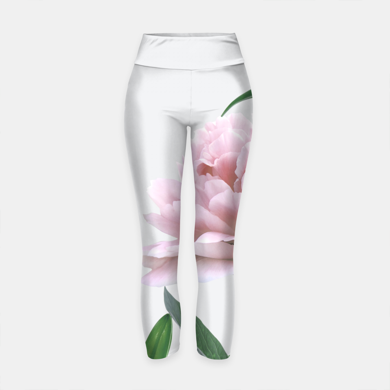 Image of Pink Peony White Lily Yoga Pants - Live Heroes