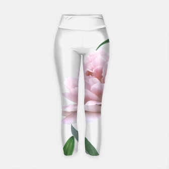 Thumbnail image of Pink Peony White Lily Yoga Pants, Live Heroes