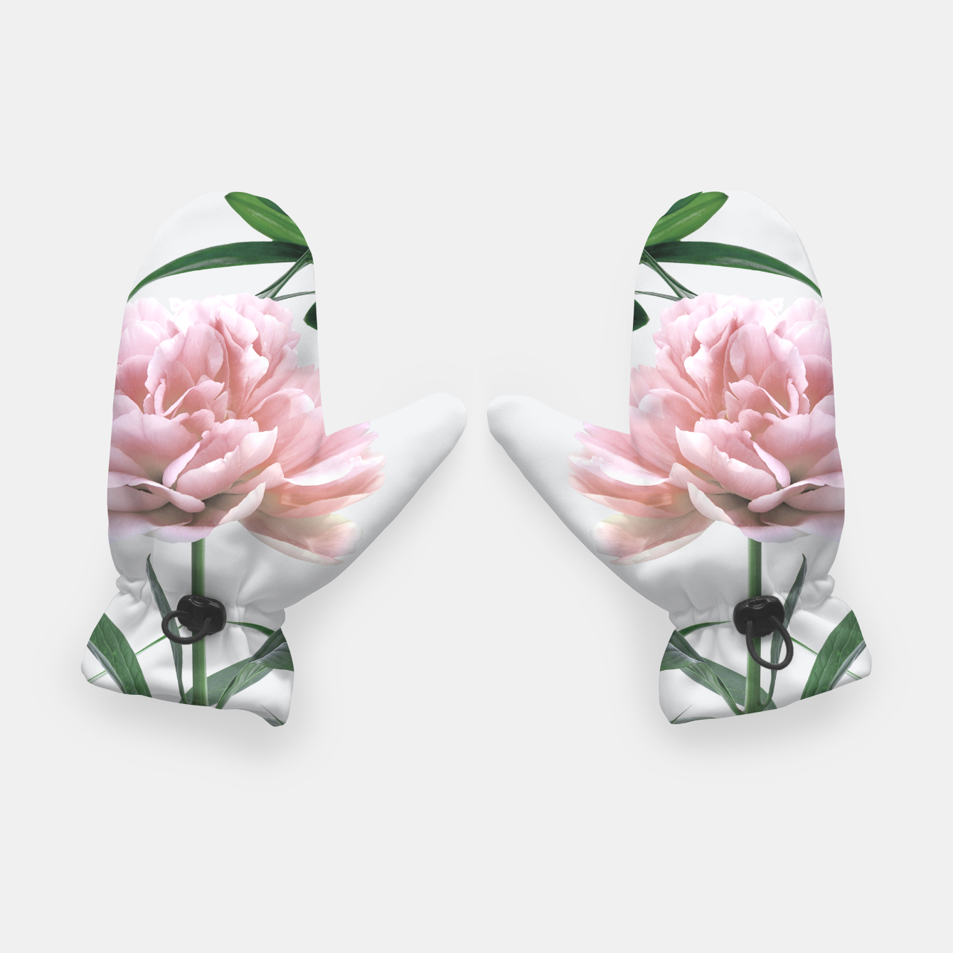 Image of Pink Peony White Lily Gloves - Live Heroes
