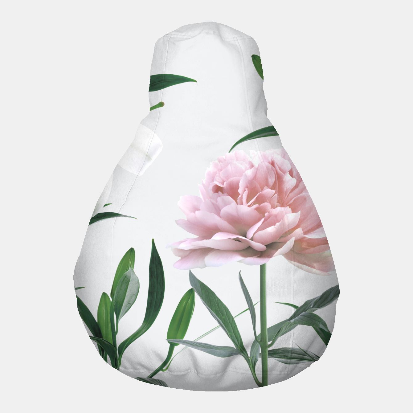 Image of Pink Peony White Lily Pouf - Live Heroes