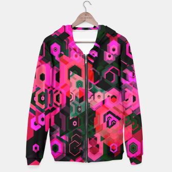Thumbnail image of Fluorescent Craze Abstract  Hoodie, Live Heroes