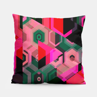 Thumbnail image of Fluorescent Craze Abstract  Pillow, Live Heroes