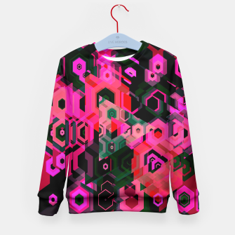 Thumbnail image of Fluorescent Craze Abstract  Kid's Sweater, Live Heroes