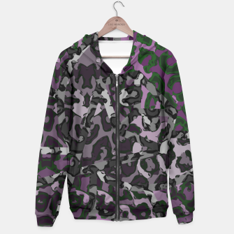Thumbnail image of Purple Cheetah Print  Hoodie, Live Heroes