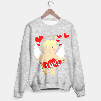 Thumbnail image of Valentine Love Arrows Cupid Sweet Hearts Sweater regular, Live Heroes