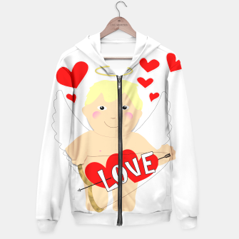 Thumbnail image of Valentine Love Arrows Cupid Sweet Hearts Hoodie, Live Heroes